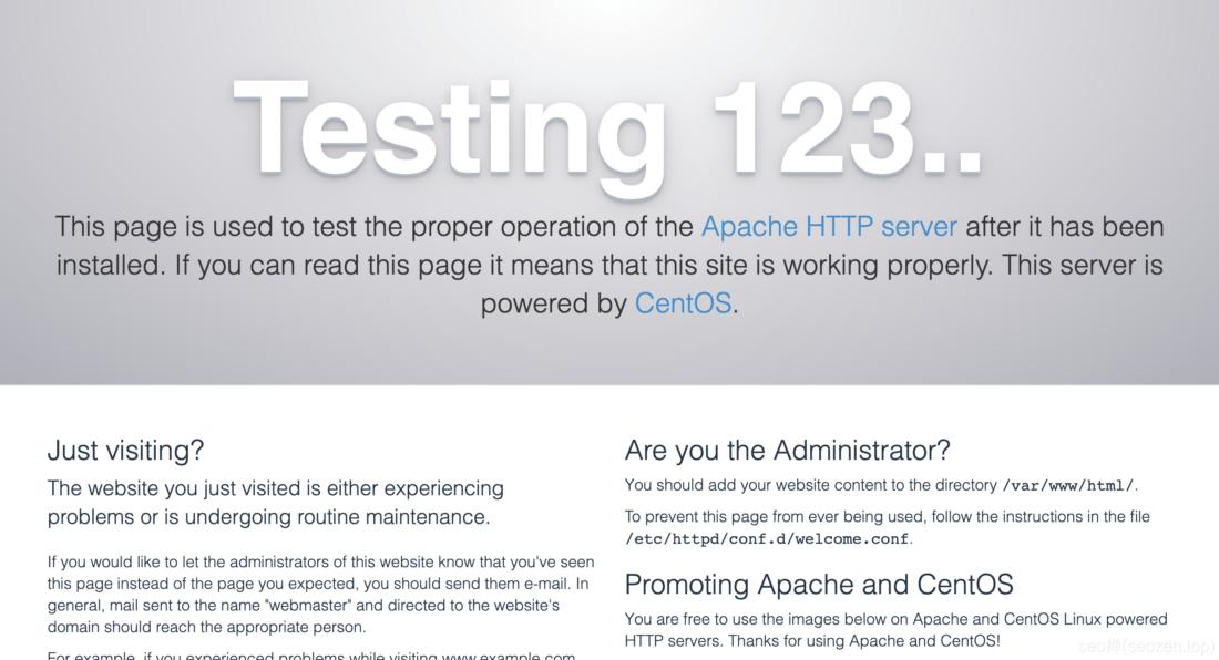 Apache安装成功
