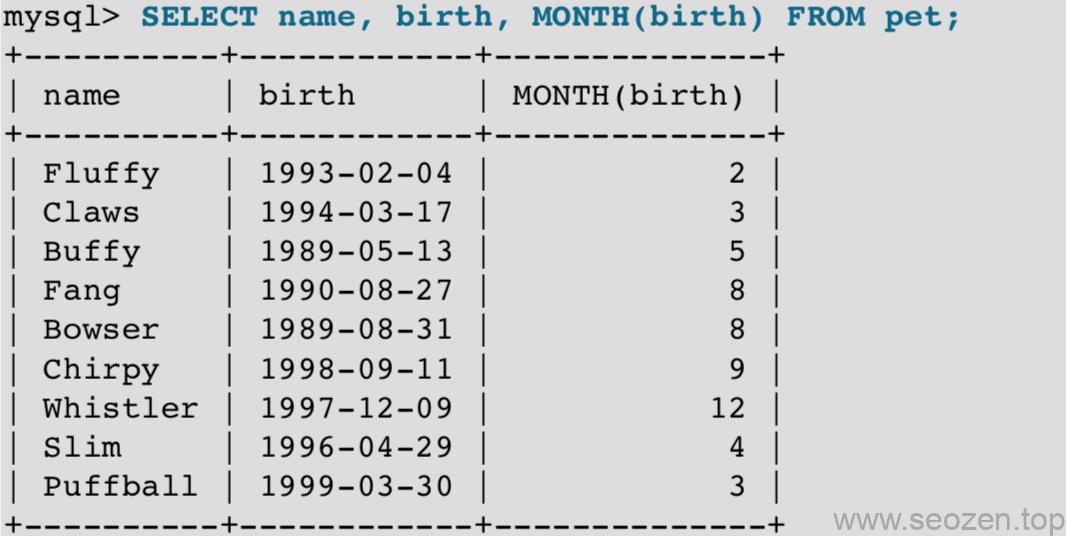 MySQL日期操作