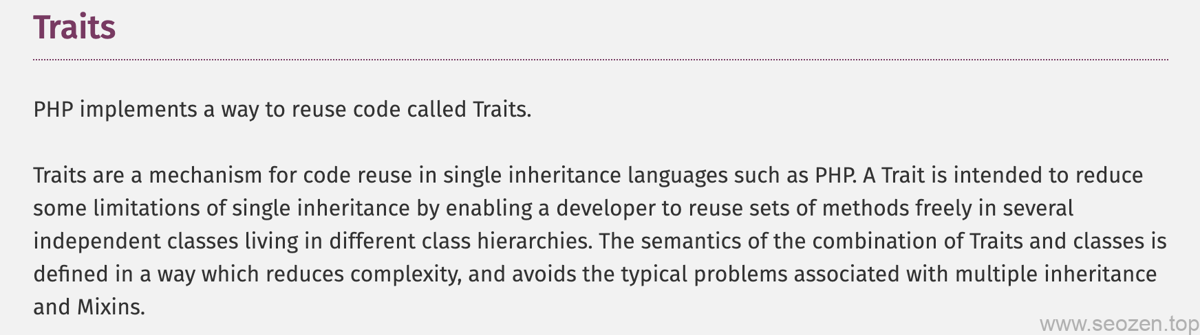 php-traits-definition
