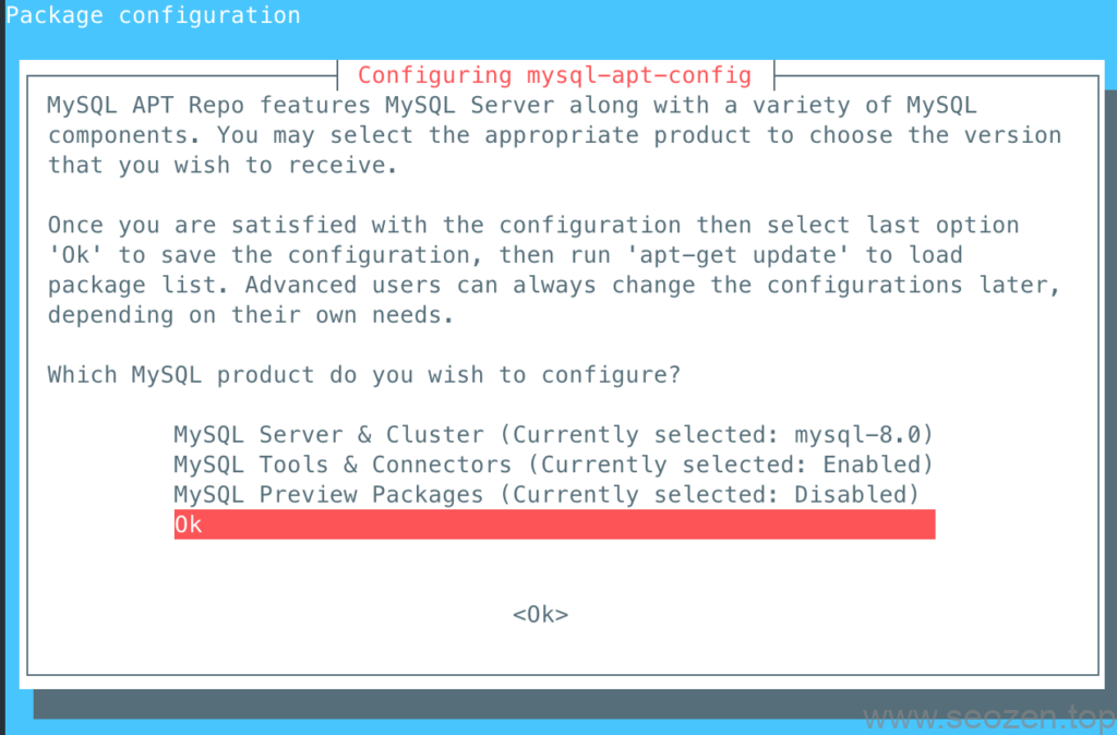 confirm-mysql-apt-config